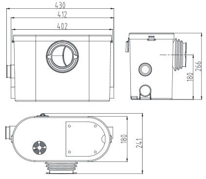 Размеры насоса STP-400 Lux